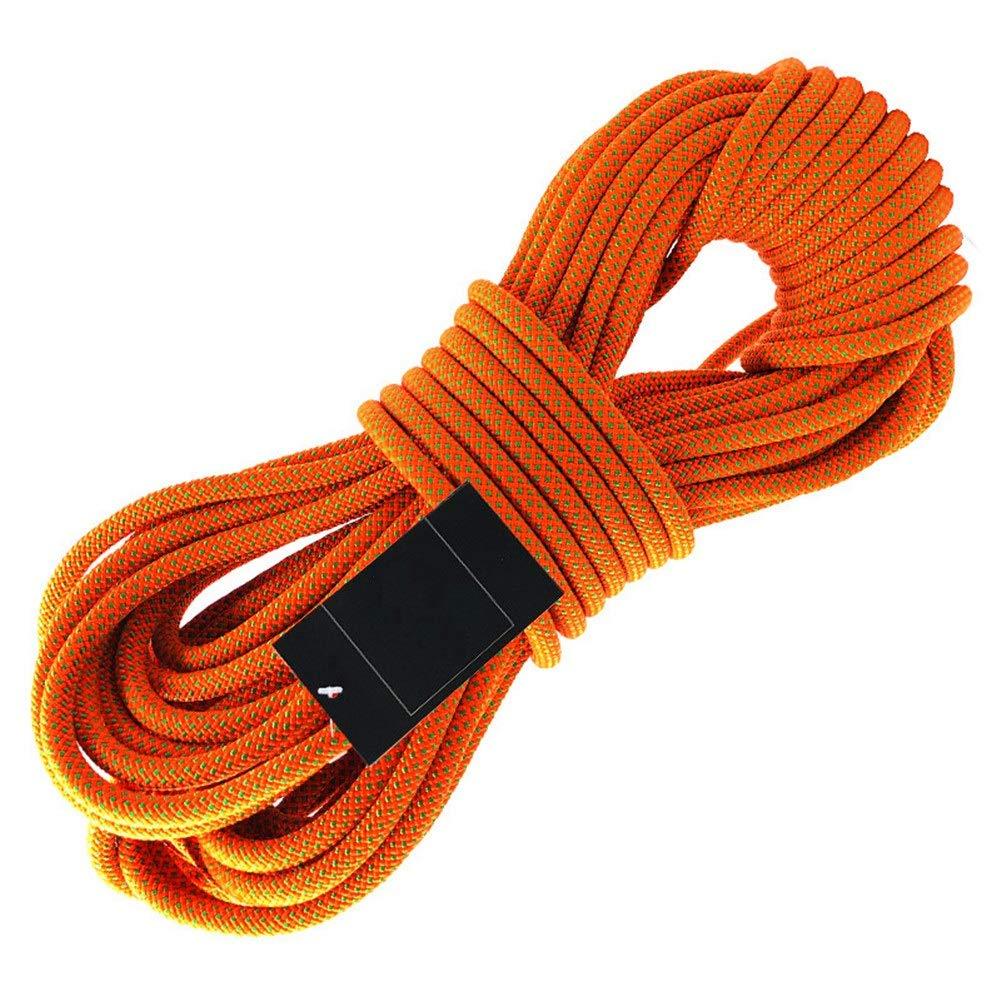 Escalade Corde Corde d'Escalade extérieure, Corde d'Accessoire de Rappel, Rappel avec Rappel et Rappel de Haute résistance, 16 mm de diamètre, Cordon avec 2 mousquetons
