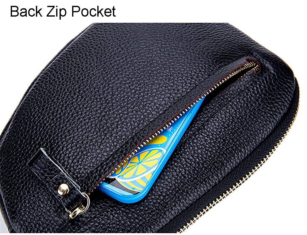 Aladin Genuine Leather Colored Change Wallet Coin Purse Change Coin Wallet Zipper Card Holder Wallet