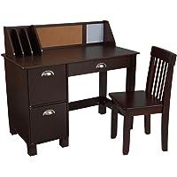 KidKraft Study Desk with Chair-Espresso