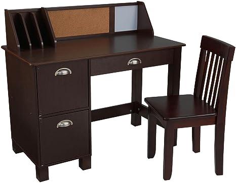 Phenomenal Kidkraft Study Desk With Chair Espresso Squirreltailoven Fun Painted Chair Ideas Images Squirreltailovenorg
