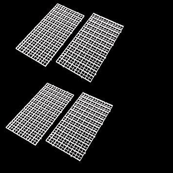 CCCYMM - 4 separadores de rejilla para huevo de la caja de la lona para acuario, acuario, pecera, parte inferior con aislamiento: Amazon.es: Productos para ...