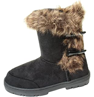 3f07a8102 Ella Duffel Toggle Ladies Womans Festival Winter Snow Comfy Flat Ankle Knee  Calf High Fur Lined