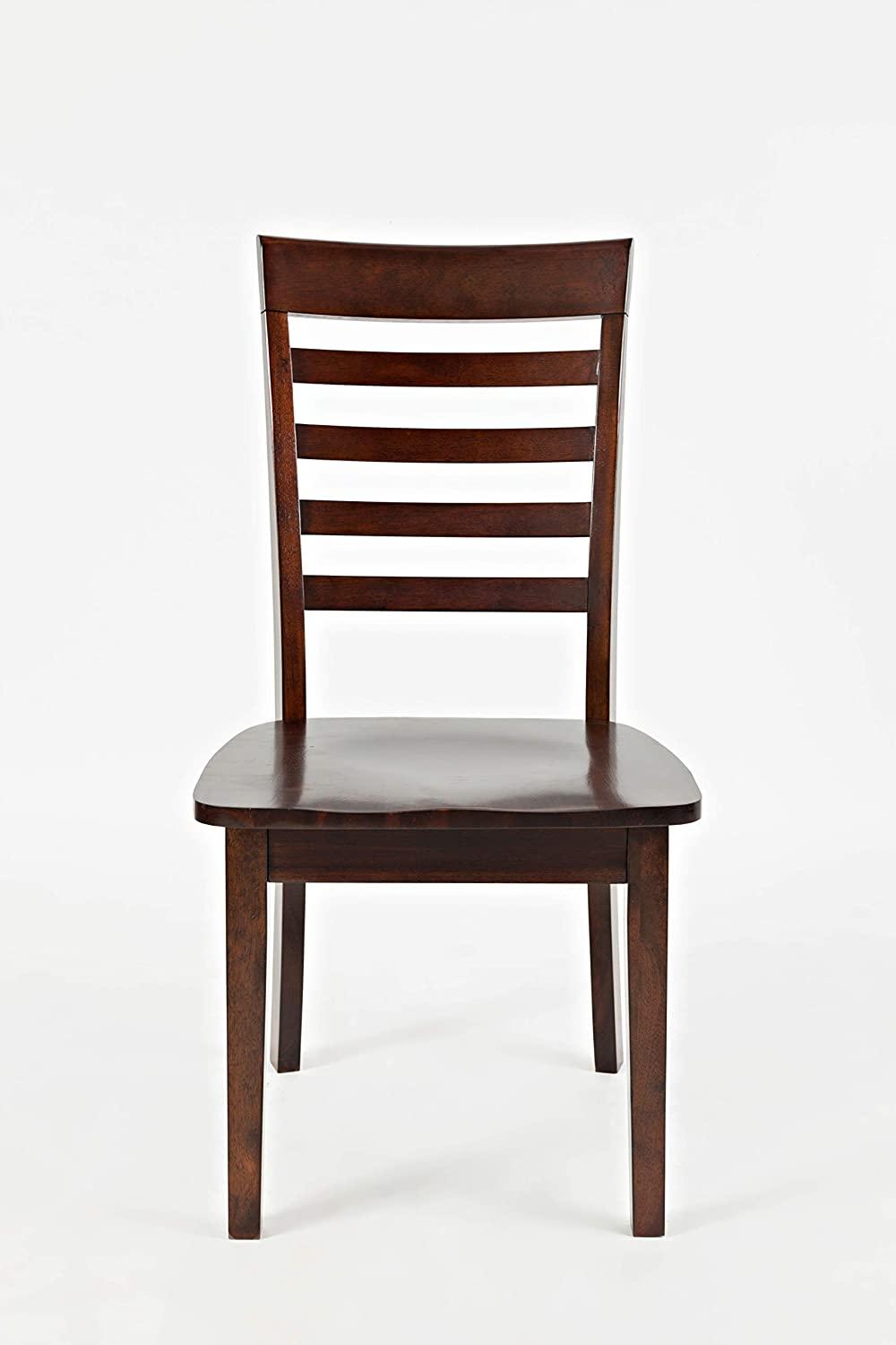 Brown Set of Two Benzara BM183832 Wooden Dining Chair with Ladder Back Design
