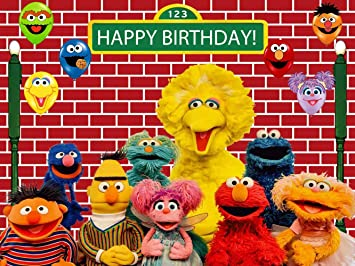 Sesame Street Birthday Banner