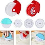 Pastry Wheel Decorator and Cutter,Set of 6 Beatiful Pie Crust, Pizza Pastry Pie Lattice Decoration for Baking Pizza Pastry la