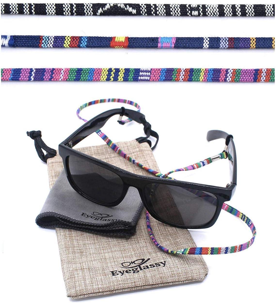 Sunglass Straps – Eyewear Retainer [Pack of 3 + Bonuses] - Eyeglass Holder, Chain, Cord, Necklace, Lanyard – Eyeglass Strap - Eyeglass Retainer - Eyewear Holder - Glasses Straps - Eyewear Holder