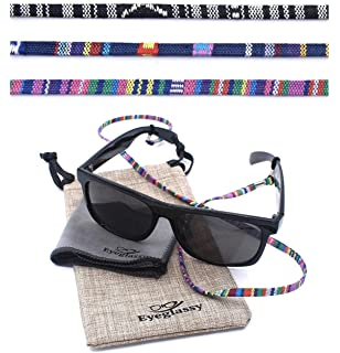8afc72c677c2c Sunglass Straps – Eyewear Retainer [Pack of 3 + Bonuses] - Eyeglass Holder,