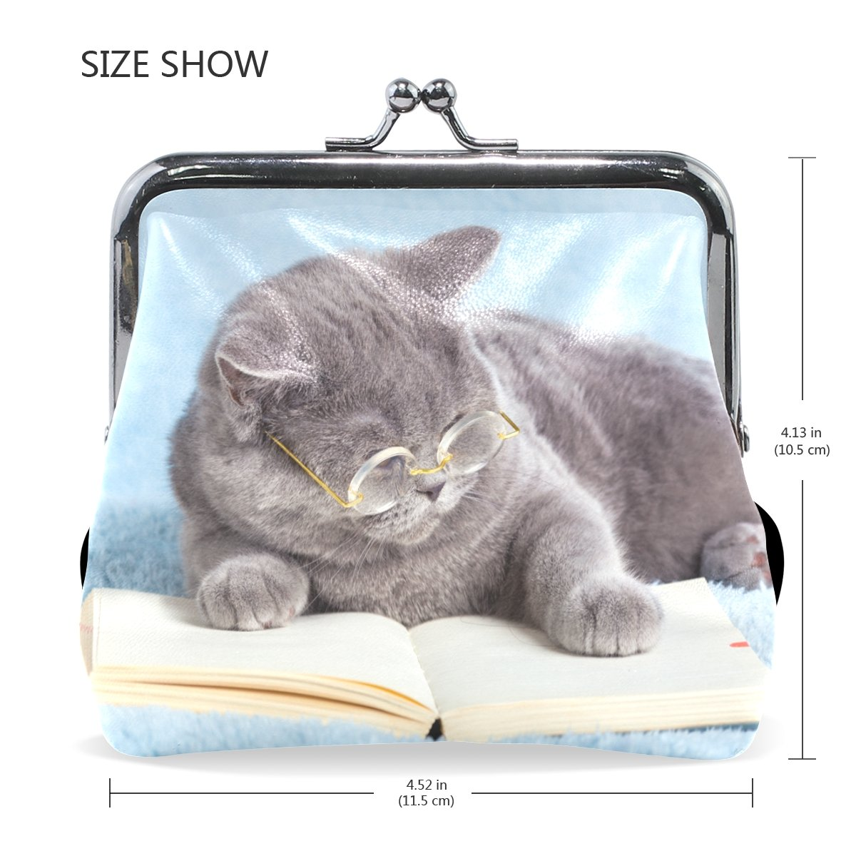Amazoncom Formrs Coin Purse Funny Animal Cute Cat Women