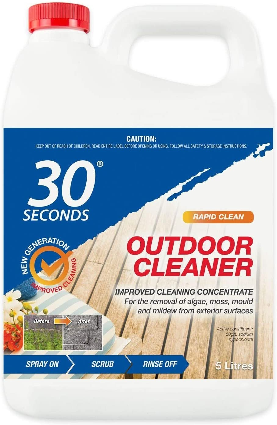 30 SECONDS Outdoor Cleaner, 1 Gallon - Concentrate