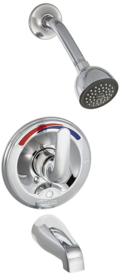 Delta Bathtub And Shower Faucets.Delta Faucet T13691 Classic 13 Series Tub And Shower Trim Push Button Diverter Valve Sold Separately Chrome