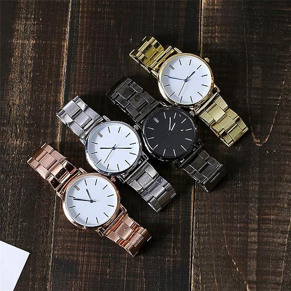 Mujeres con Estilo de Acero Inoxidable Reloj de Pulsera de Cuarzo Analógico Relojes de Pulsera de Regalo: Amazon.es: Deportes y aire libre