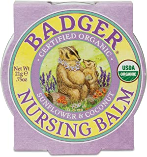 product image for Badger - Nursing Balm, Sunflower & Coconut, Certified Organic Nipple Balm for Breastfeeding, Soothe & Protect, Nipple Butter, 0.75 oz