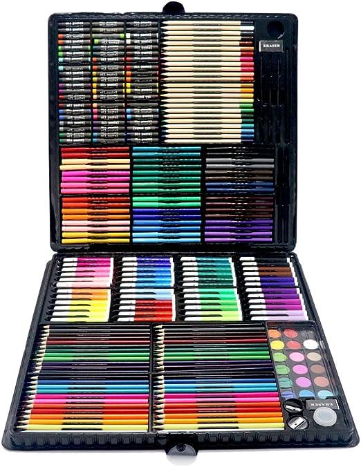Lisansang Lapices De Colores Niños 258 Gran Regalo de Pintura Caja ...