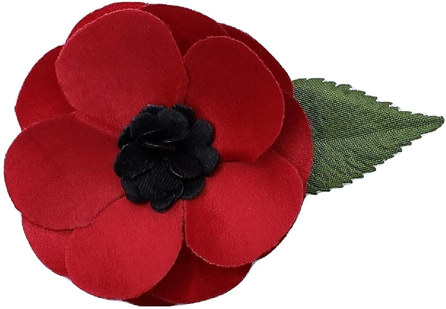 1x Girls Hair Bow Accessories remembrance day poppies poppy lest we forget