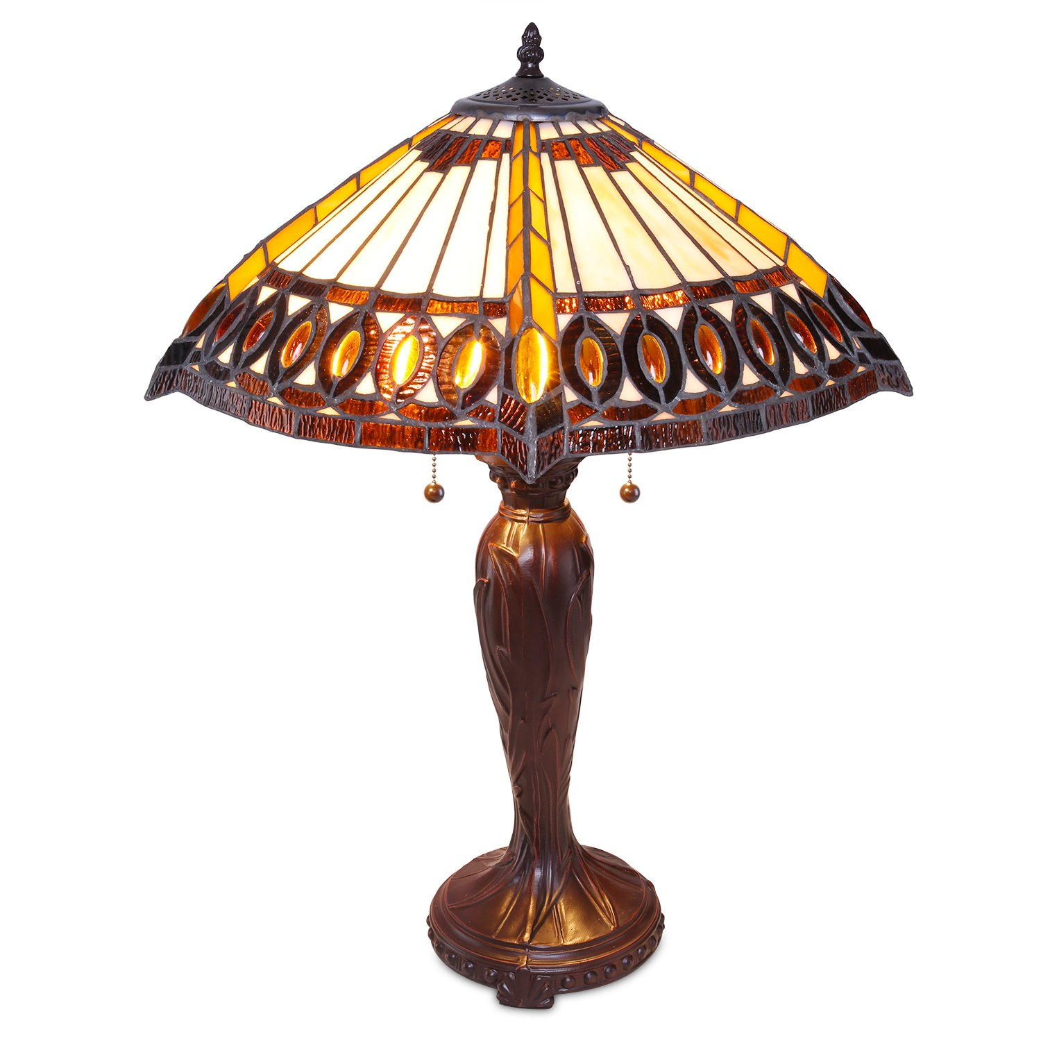 1908 Studios Amberjack Tiffany Table Lamp Table Lamps Tiffany