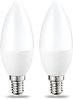 AmazonBasics Bombilla LED E14, 6W (equivalente a 40W), Blanco Cálido, Regulable