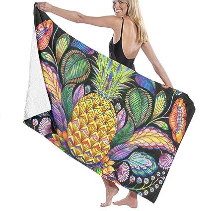 Amazoncom Qwed Pineapple Tattoo Unisex Luxury Beach Towels