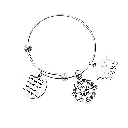 Amazon Com Fullrainbow 2018 Inspirational Charm Bangle Bracelets