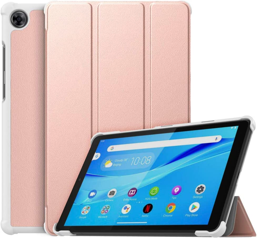 MoKo Case Compatible with Lenovo Tab M8 (TB-8505F), Slim Lightweight Smart Shell Stand Cover Case Fit Lenovo Tab M8 (TB-8505F), Not fit Lenovo Smart Tab M8 or Other Models - Rose Gold