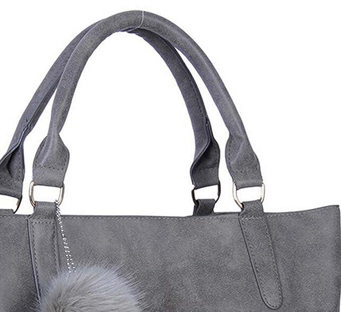 Mode Damen Handtaschen Ballett Handtaschen Umhängetasche Schief Scheuerstelle Paket,Grey-OneSize GKKXUE
