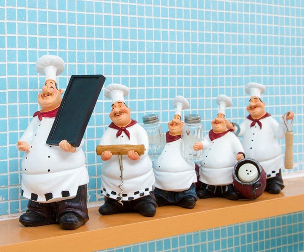 Amazon.com: 5pcs Fashion vintage Creative chef Resin Crafts ...