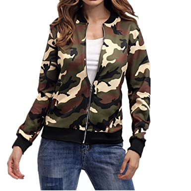 557ed6389 Amazon.com: Taiduosheng Women's Print Camo soft Thin outwear cotton ...