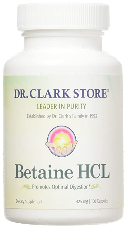 Betaine HCL, 425mg, 100 capsules
