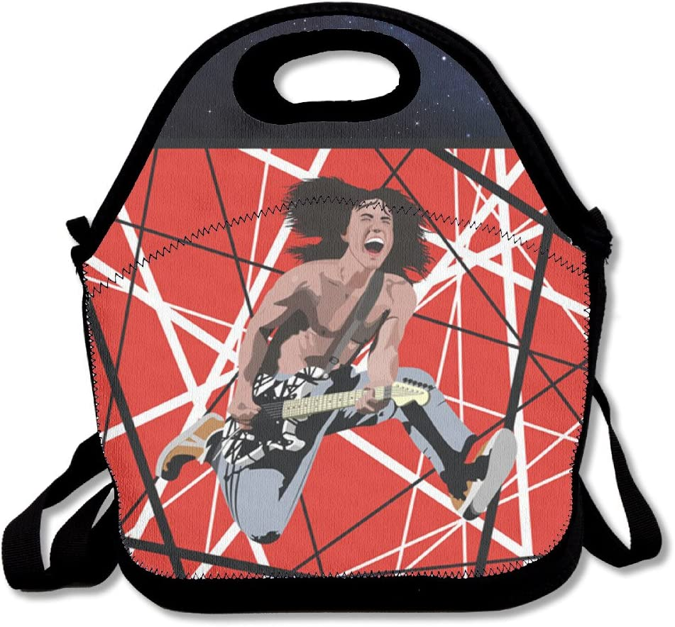 Eddie Van Halen Vector Insulated Lunch Tote Bag Tote Handbag Amazon Ca Home Kitchen