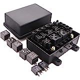 Amazon.com: Kaifa 12-Slot Relay Box 6 Relays 6 ATC/ATO Fuses ... on
