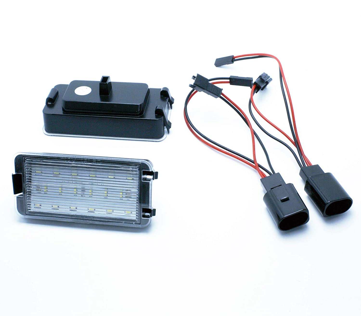 VINSTAR 2X Luces para MATRICULA LED License Number Plate Light Seat Leon I MK1 99: Amazon.es: Coche y moto