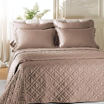 Caleffi Satin, couvre lit matelassé pour lit en satin de coton