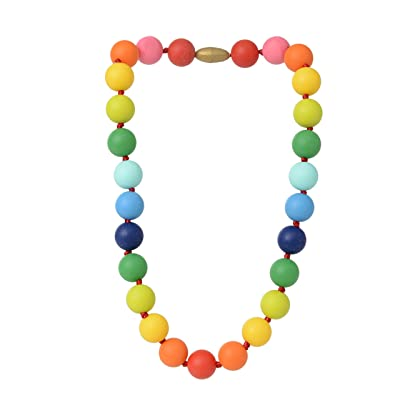 Juniorbeads by Chewbeads Christopher Jr. Necklace, 100% Safe Silicone - Multi : Baby