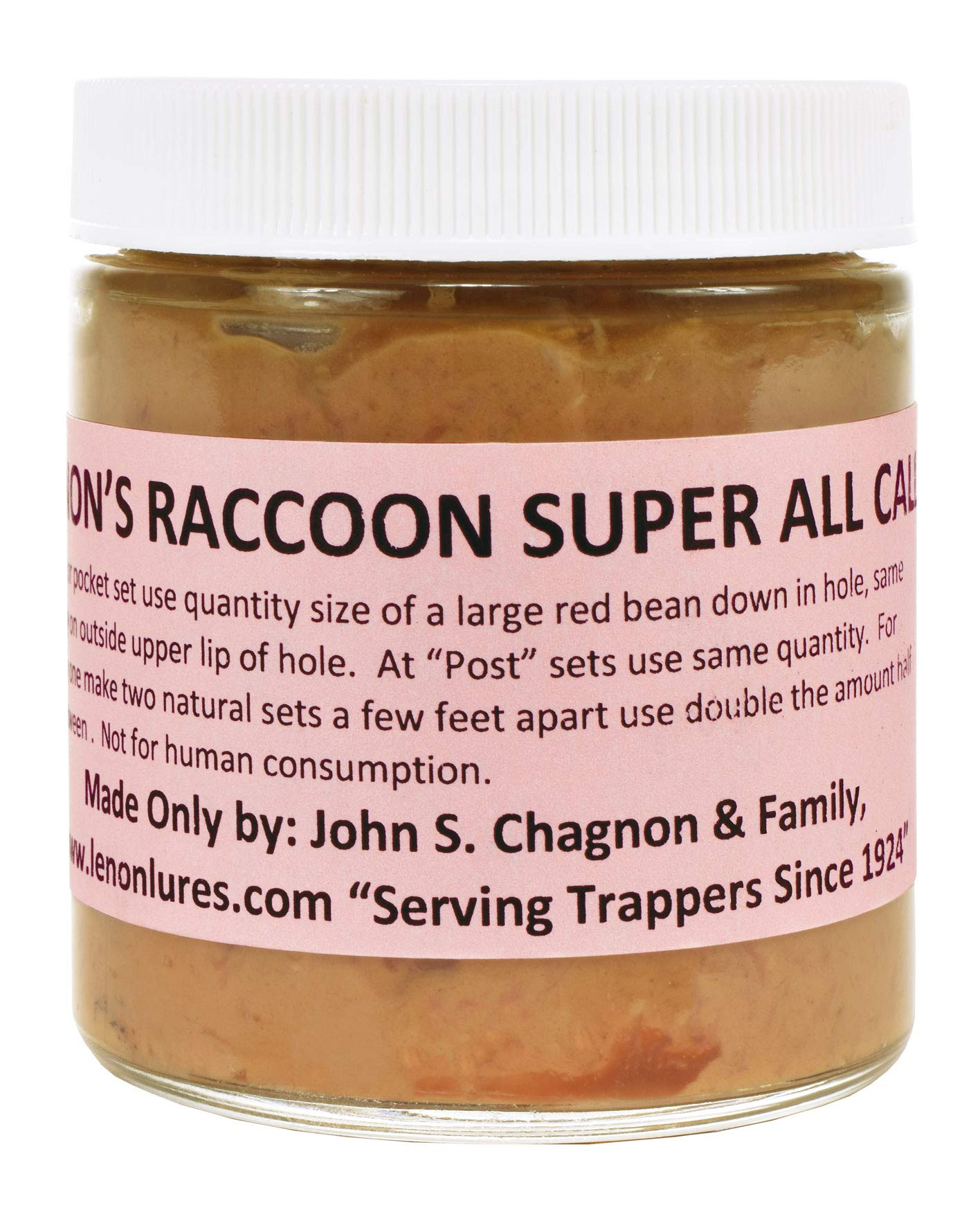Lenon's Raccoon Super All Call Lure 4 oz. Jar - On the Market Every Year Since 1924 by Lenon Lure