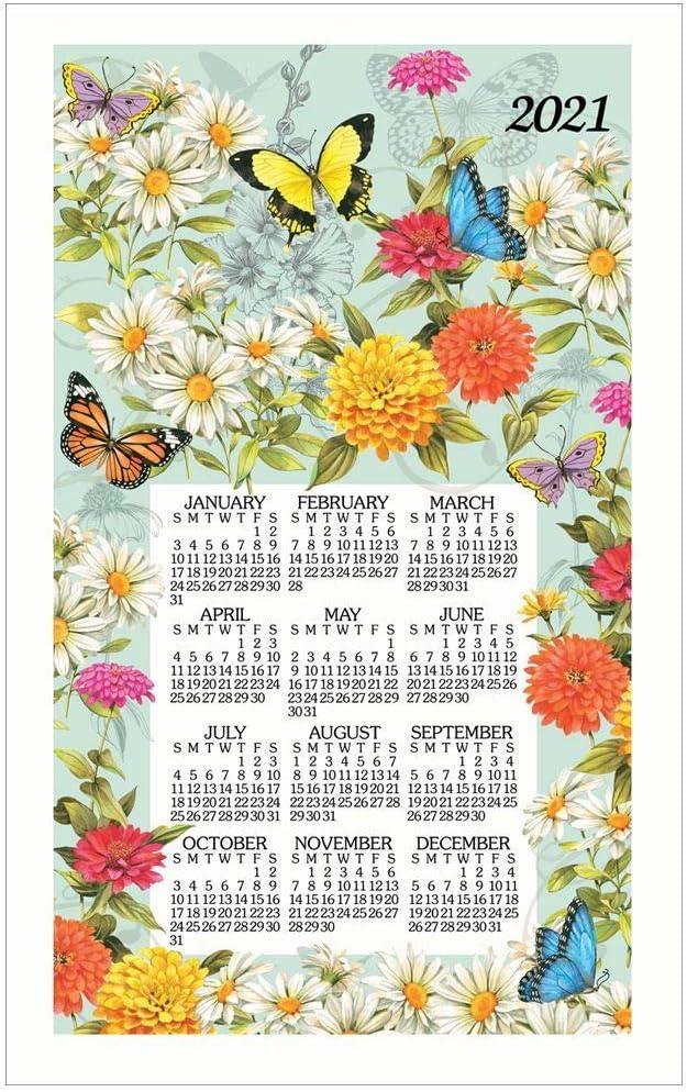Kay Dee Designs, 2021 Butterfly Garden Towel Calendar
