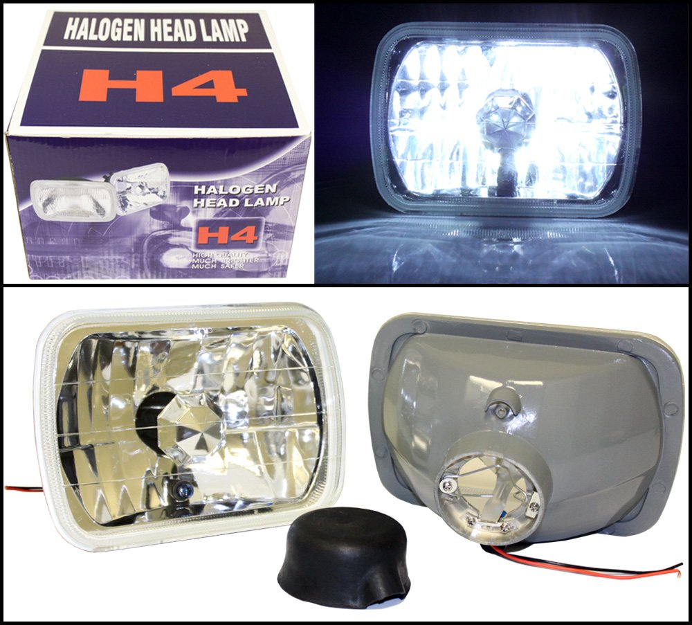Optix Pra Diamond 7x6 H6052 H6054 Rectangle Sealed Positive Terminal Rewiring And Hella H4 Setup Beam Housings 5000k Brilliant White Hid Headlight Conversion Kit Automotive