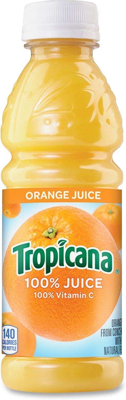QUAKER Oats Company 55154 100% Juice, Orange, 10oz Plastic Bottle, 24/Carton