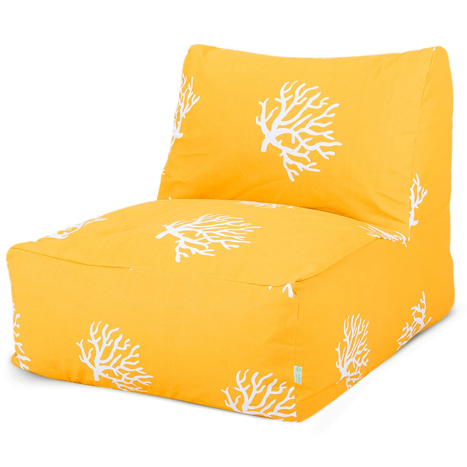 Amazon Majestic Home Goods Yellow Coral Bean Bag Chair
