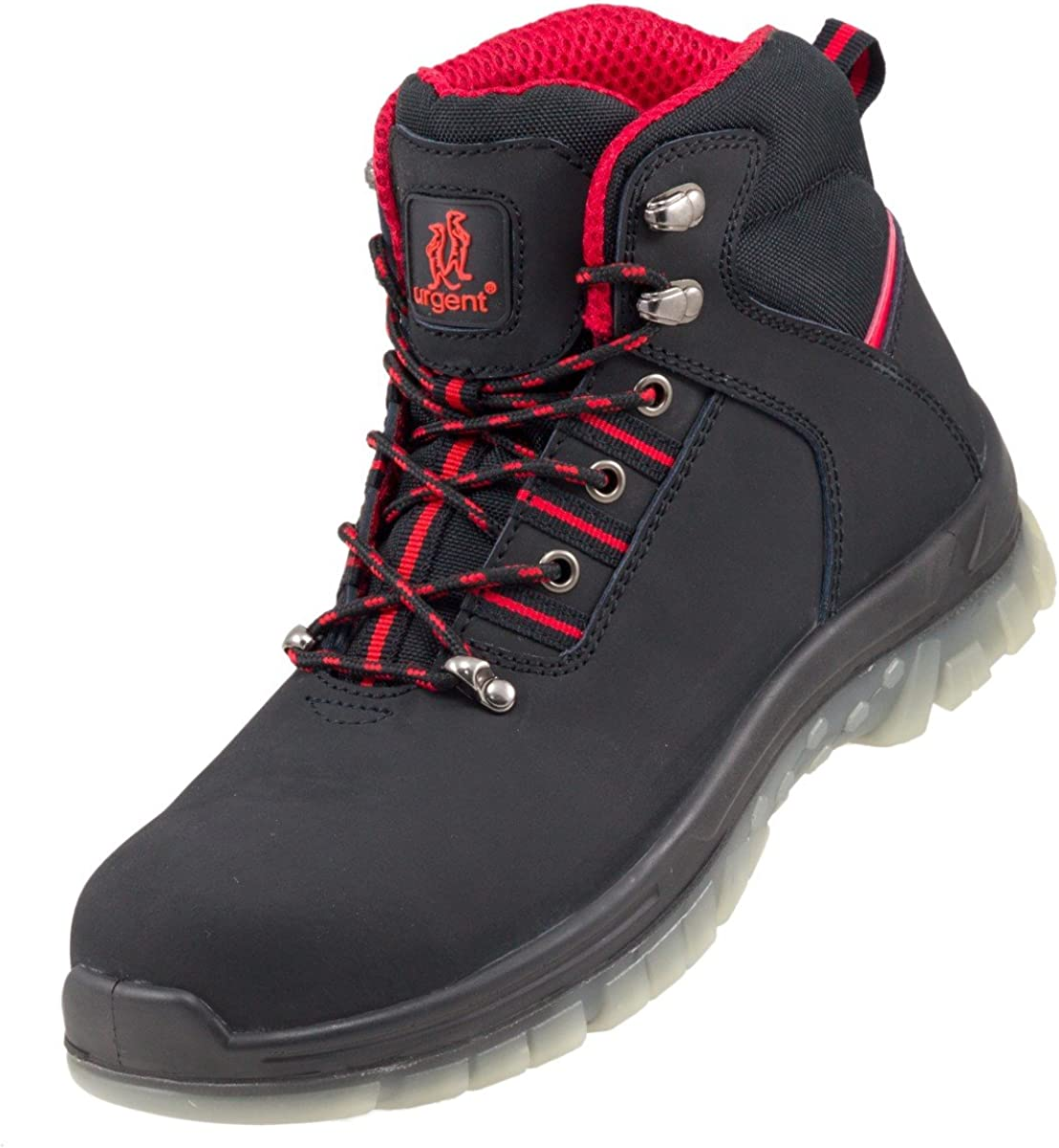 Urgent Leightweight Leather Men s Boot Safety Work Boot with Steel Toe Cap 103 SB