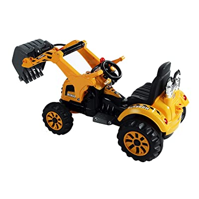 Festnight Child Excavator 6V Kids Ride On Toy Digger Construction Tractor: Kitchen & Dining