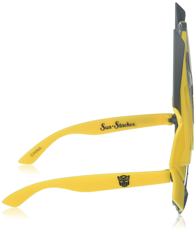 9ba99ec69e Amazon.com  Costume Sunglasses Transformers Bumblebee Tall Sun-Staches  Party Favors UV400  Toys   Games