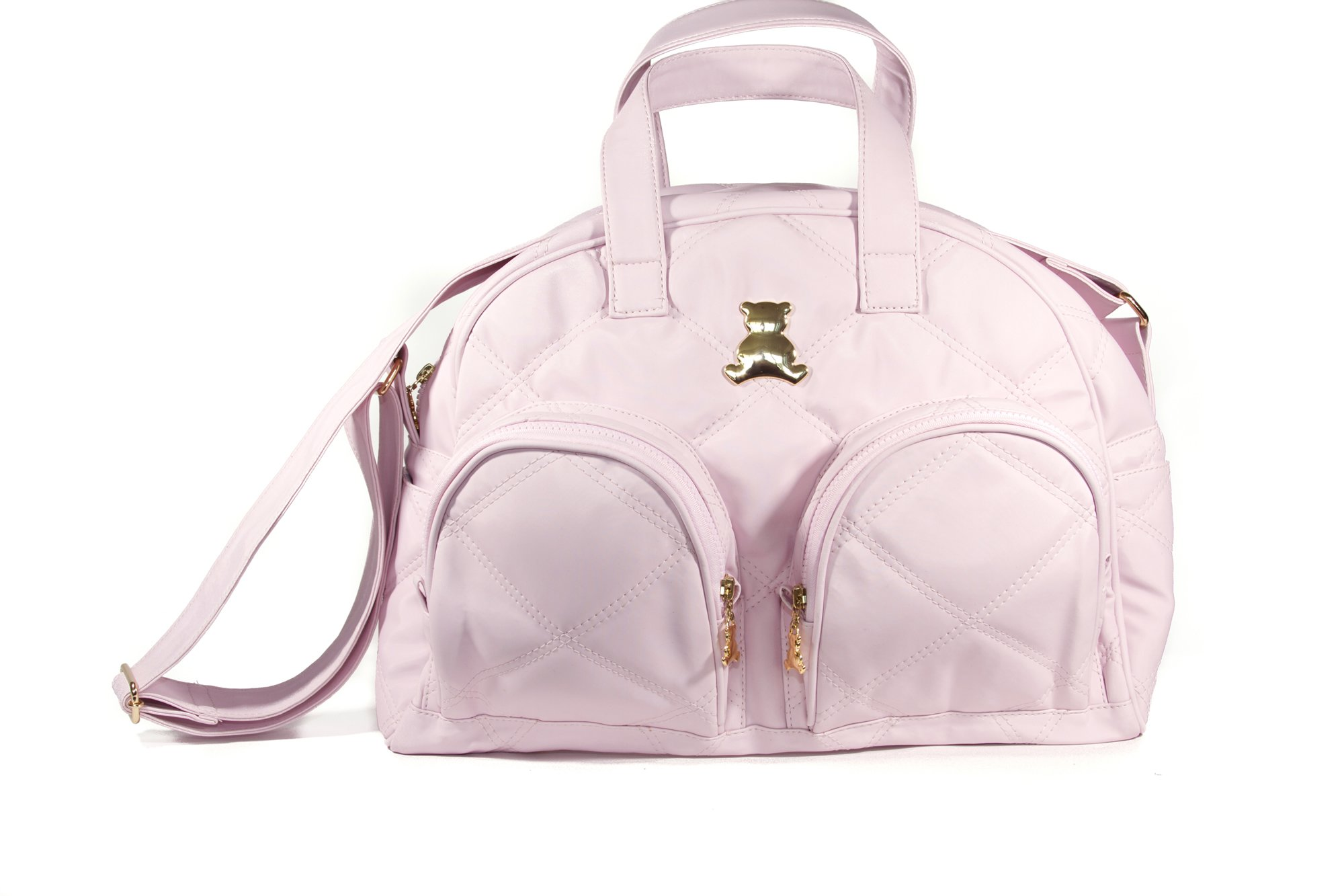 BL BABY - Elegance Collec. - MED - Crossbody Bag - Themal & Front Pockets - Pink - 6x15x9''