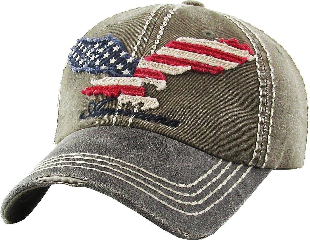 KBETHOS Eagle and Free Spirit Distressed Baseball Cap Dad Hat Adjustable  Unisex Fashion (Adjustable 8114b36b53c