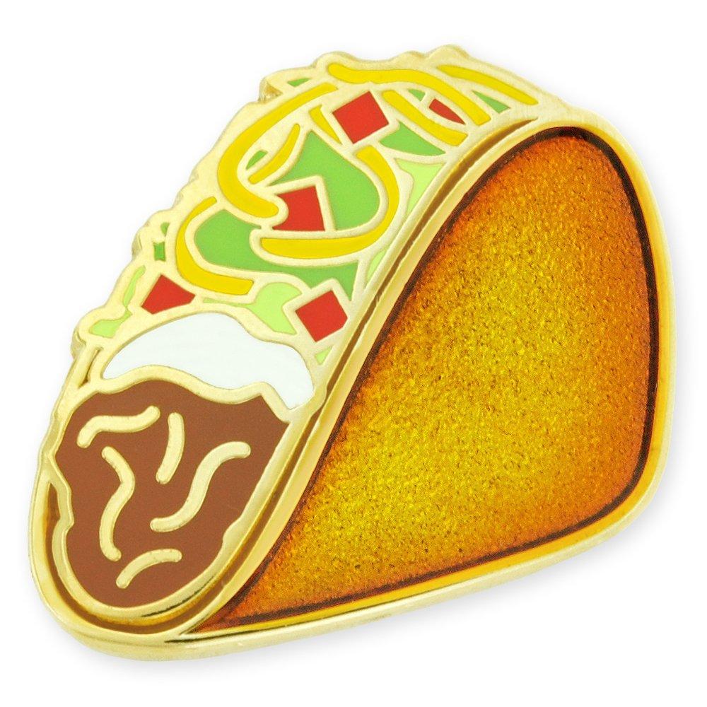 PinMart Crunchy Taco Fast Food Enamel Lapel Pin