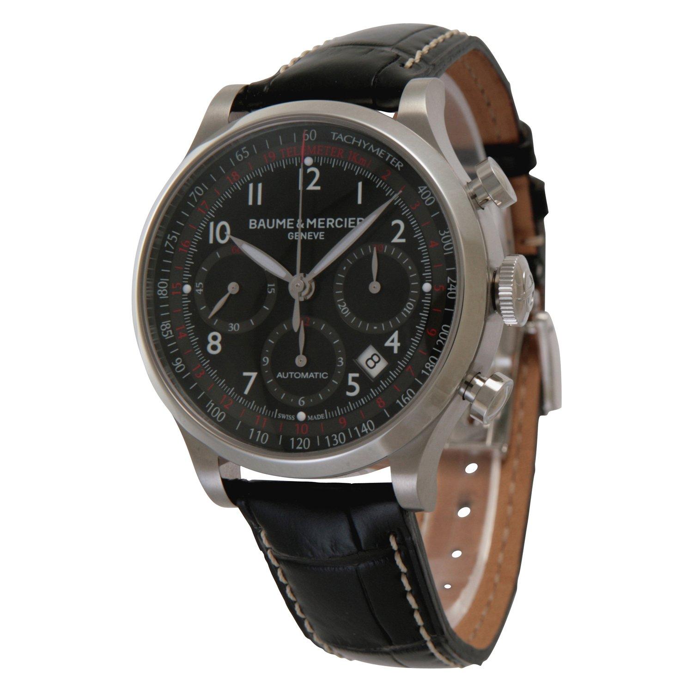 [ボーム&メルシェ]Baume&Mercier 腕時計 ケープランド クロノグラフ メンズ 42mm SS 自動巻き ブラック アリゲーター MOA10084 メンズ 【並行輸入品】 B008620RF2