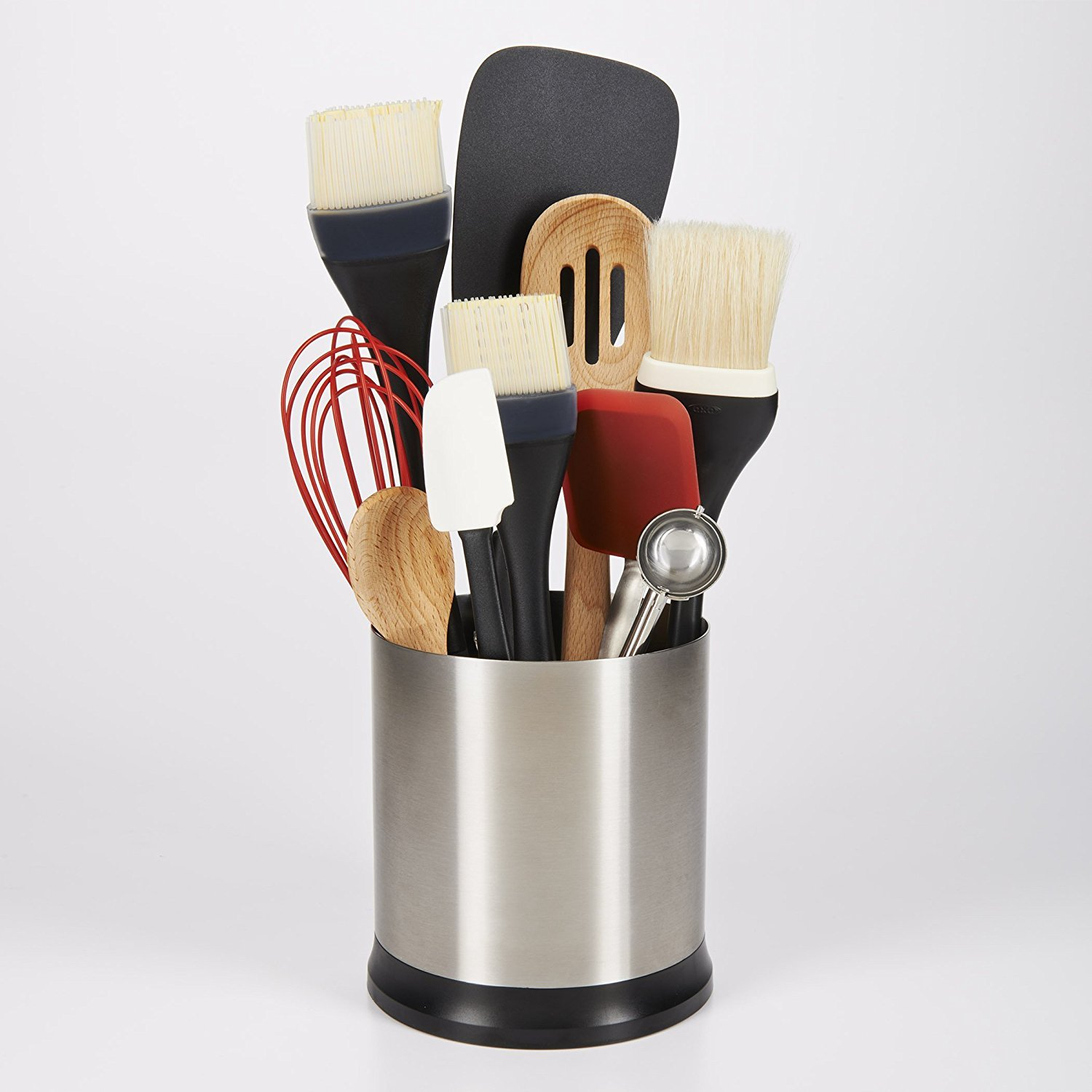 stunning Spinning Utensil Caddy Part - 12: Amazon.com - OXO Good Grips Stainless Steel Rotating Utensil Holder -  Utensil Organizers