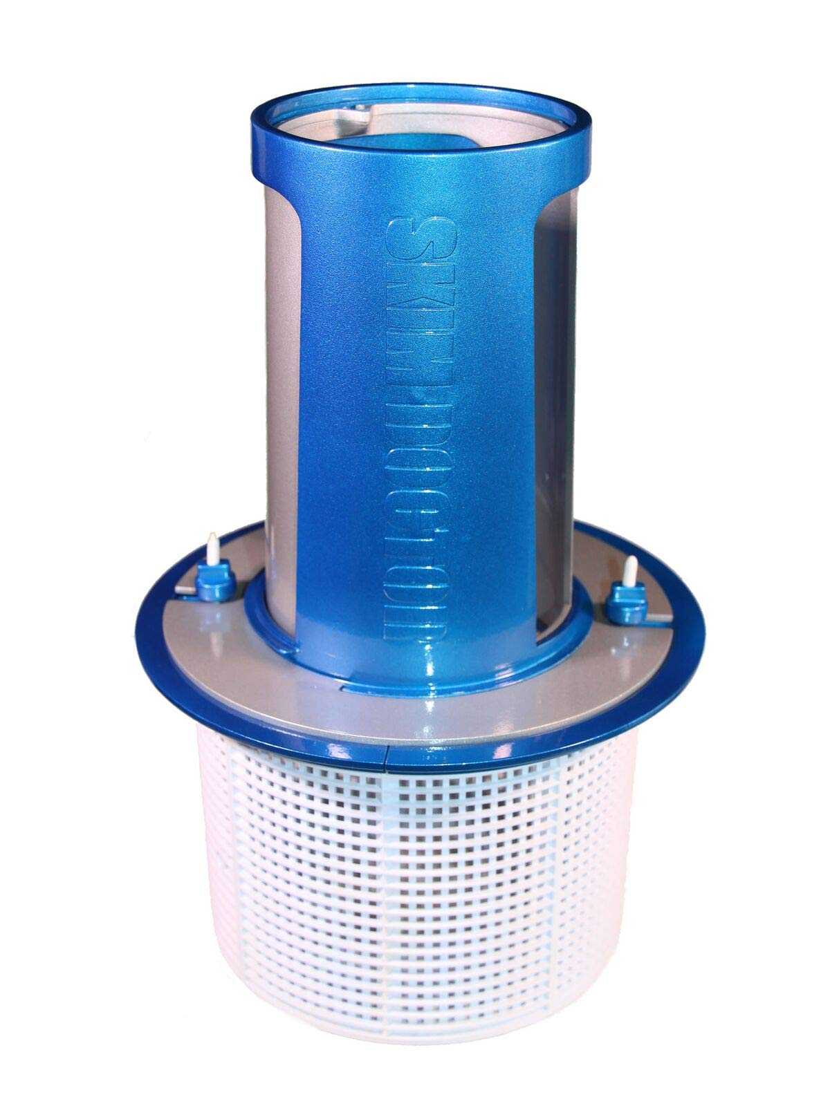SkimDoctor 2.0 Pool Skimmer - Automatic Pool Cleaner draws all water a round the Pool into Skim Basket - LESS WORK with Pool Leaf Pole Net - Enhances Inground Pool Vacuum - Increases Baskets Capacity
