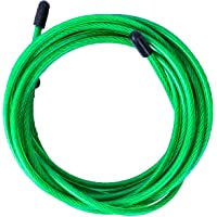 Velites Kabelspringtouw voor crossfit, fitness en boxen, pvc, groen en staal, 4 mm, voor spier- en coördinatie…