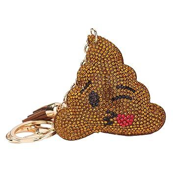 Elegante Emoji caca Emoji Llavero juguetes bolsa de regalo ...