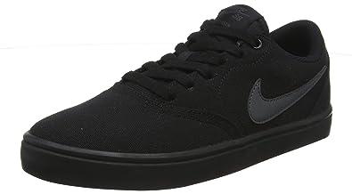 huge discount c2078 63f5d Nike Jungen Sb Check Solar CNVS Skateboardschuhe, Schwarz (Black/Anthracite  002),