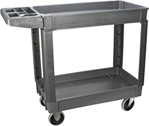 Performance Tool W53991 Easy Rolling 2 Shelf Poly Service Cart (30x16)